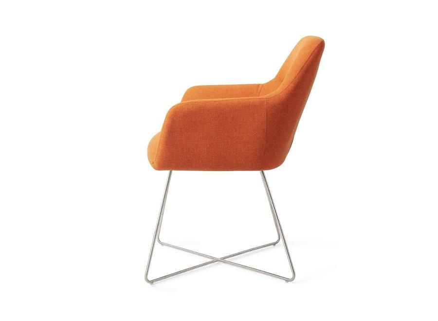 Chaise de salle à manger Kinko - Tangerine Cross Steel