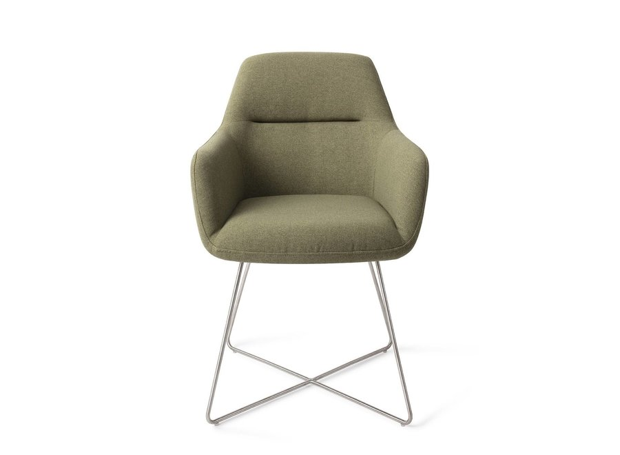 Chaise de salle à manger Kinko - Green Hunter Cross Steel