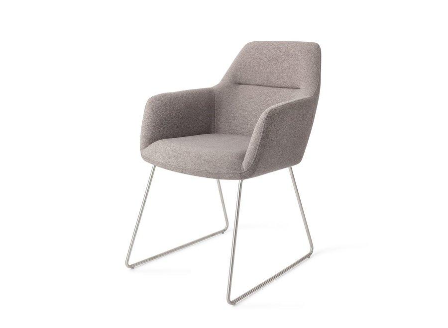 Chaise de salle à manger Kinko Earl Grey, Slide Steel