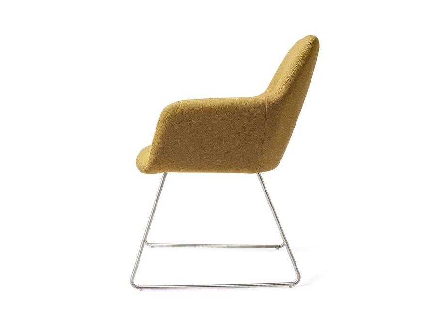 Chaise de salle à manger Kinko - Dijon Slide Steel