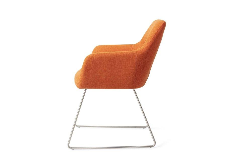 Chaise de salle à manger Kinko - Tangerine Slide Steel