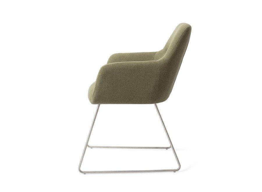 Chaise de salle à manger Kinko - Green Hunter Slide Steel