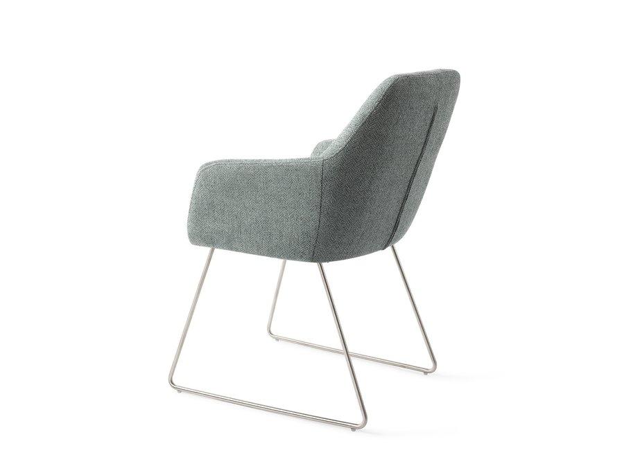 Chaise de salle à manger Noto - Real Teal Slide steel