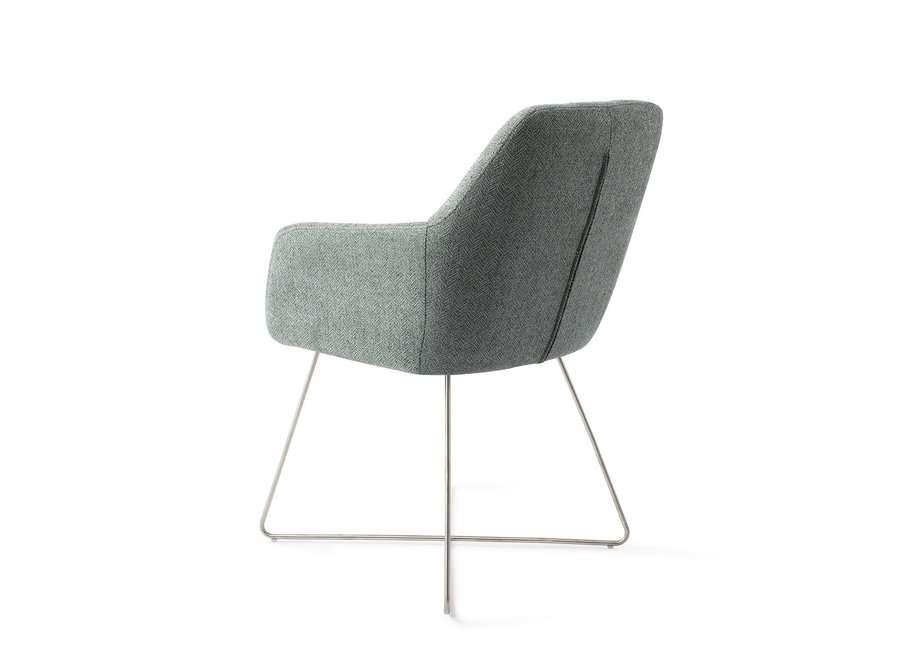 Chaise de salle à manger Noto - Real Teal Cross steel