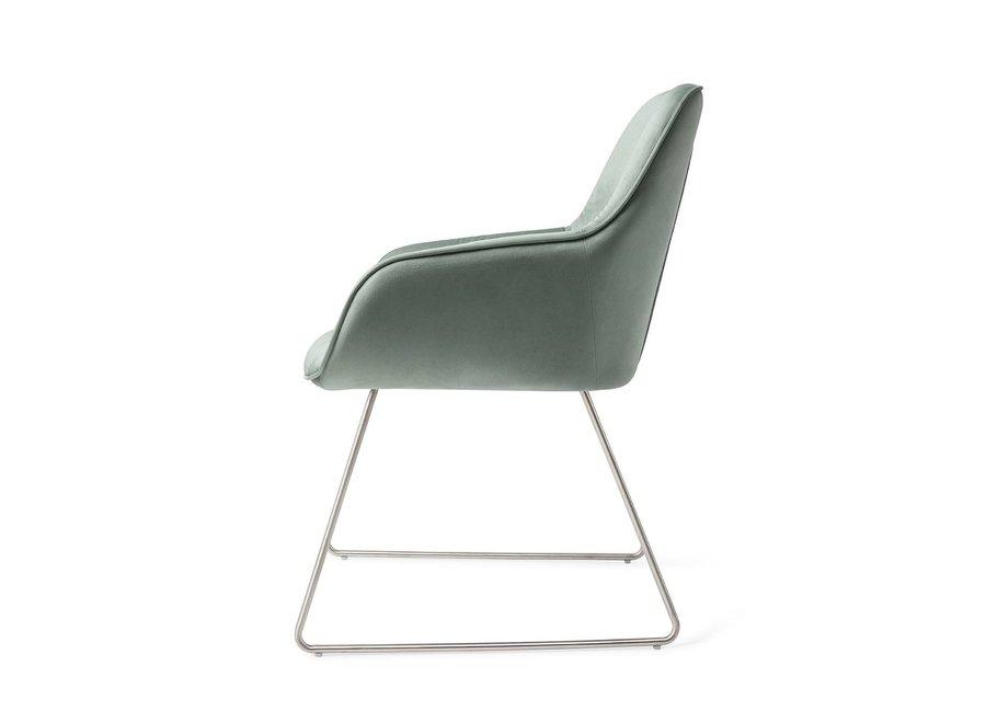 Chaise de salle à manger Tara Jade, Slide steel