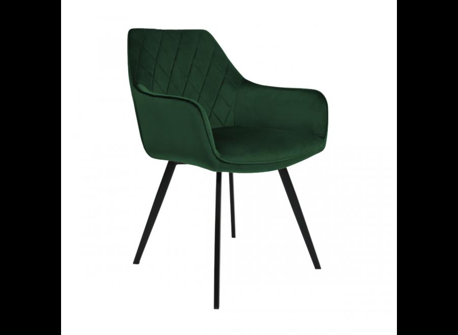 Chaise de salle à manger Karl Velvet - Vert foncé