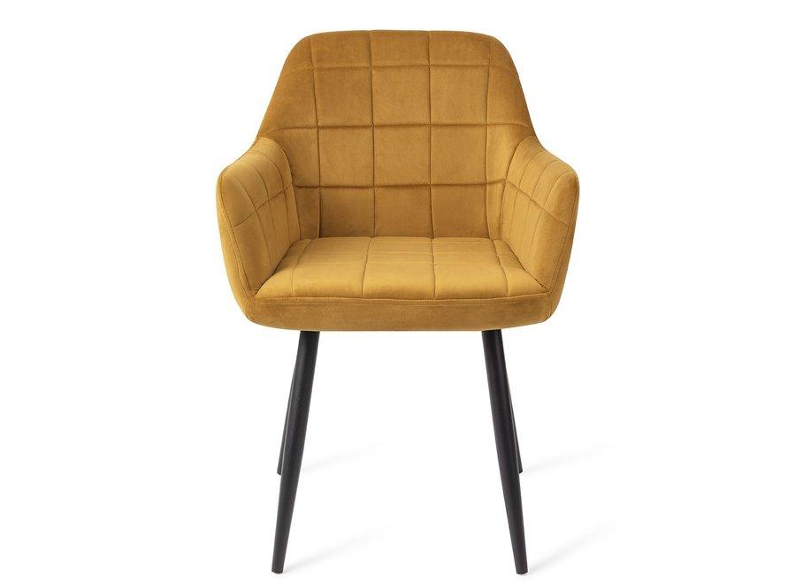 Chaise de salle à manger Madison Velours - Or