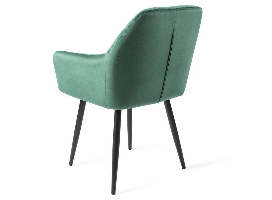 Chaise de salle à manger Madison Velours - Verte