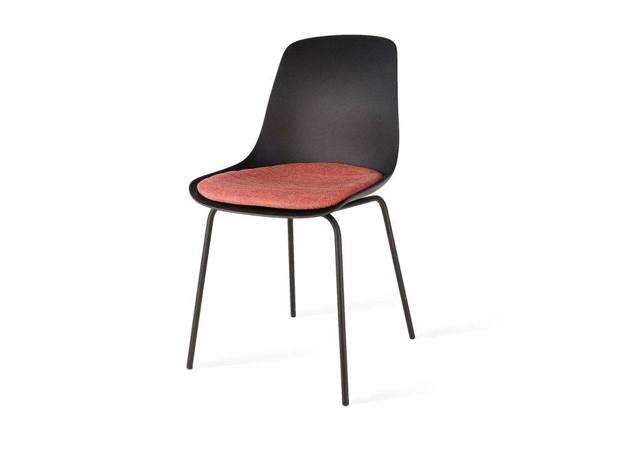 Atrani Noire | Pieds noirs - Coussin de siège en différentes couleurs