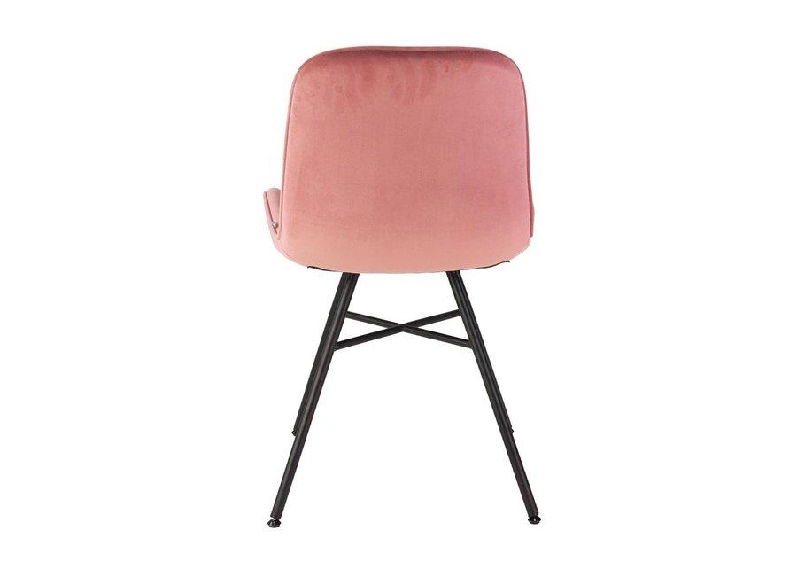 Chaise de salle à manger Misurina Velvet - Rose