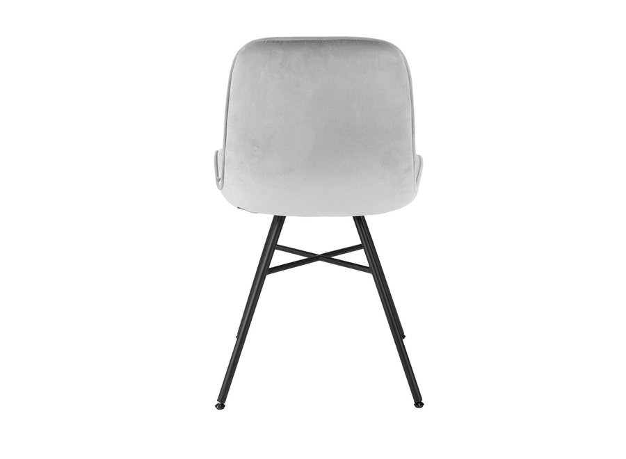 Chaise de salle à manger Misurina Velvet - Grise