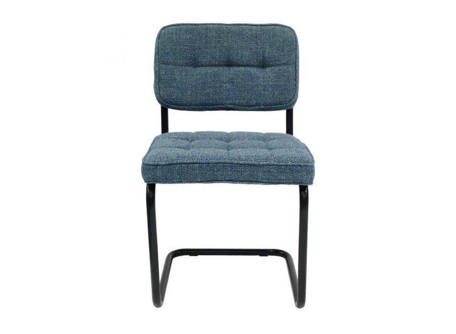 Chaise de salle à manger Yves - Bleue