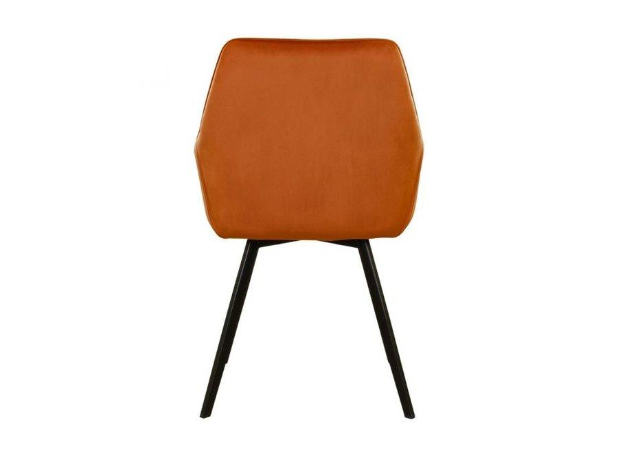 Eetkamerstoel Karl Velvet - Oranje