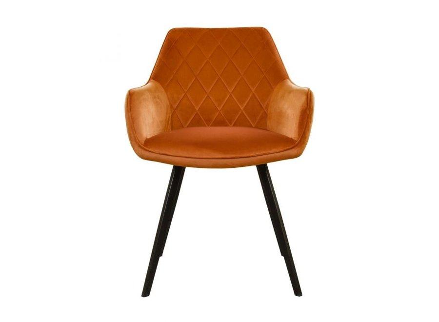 Chaise de salle à manger Karl Velvet -  Orange