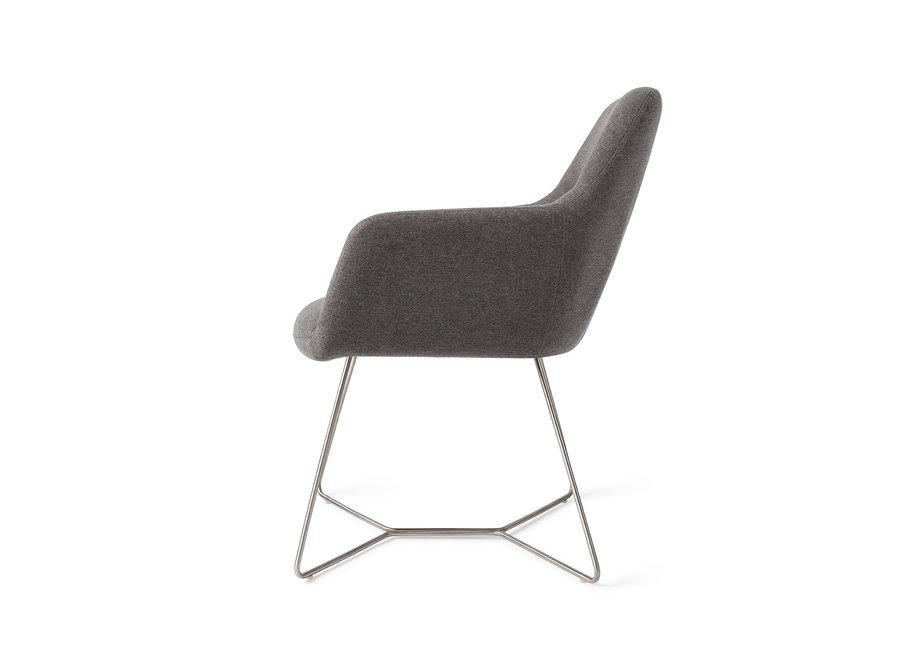 Chaise de salle à manger Kinko - Shadow, Beehive Steel