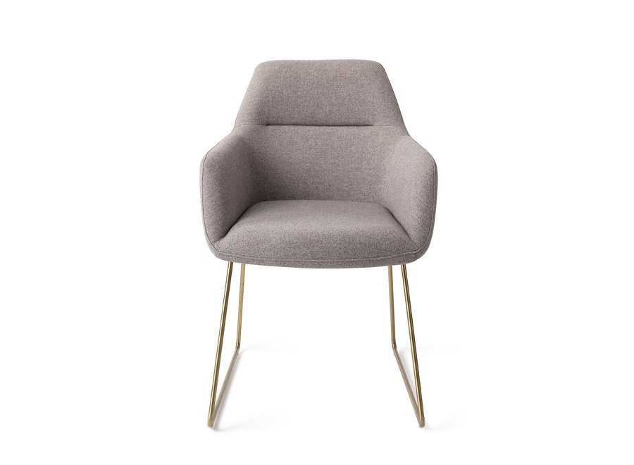 Chaise de salle à manger Kinko - Earl Grey, Slide Gold