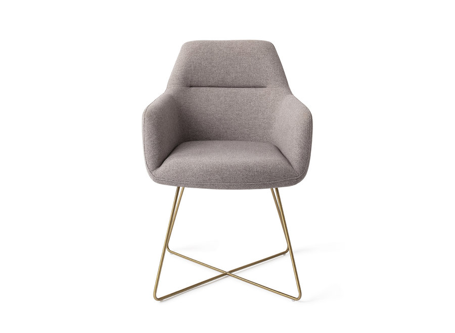 Chaise de salle à manger Kinko  - Earl Grey, Cross Gold