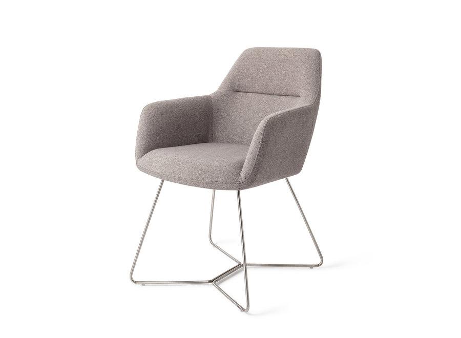 Chaise de salle à manger Kinko - Earl Grey, Beehive Steel
