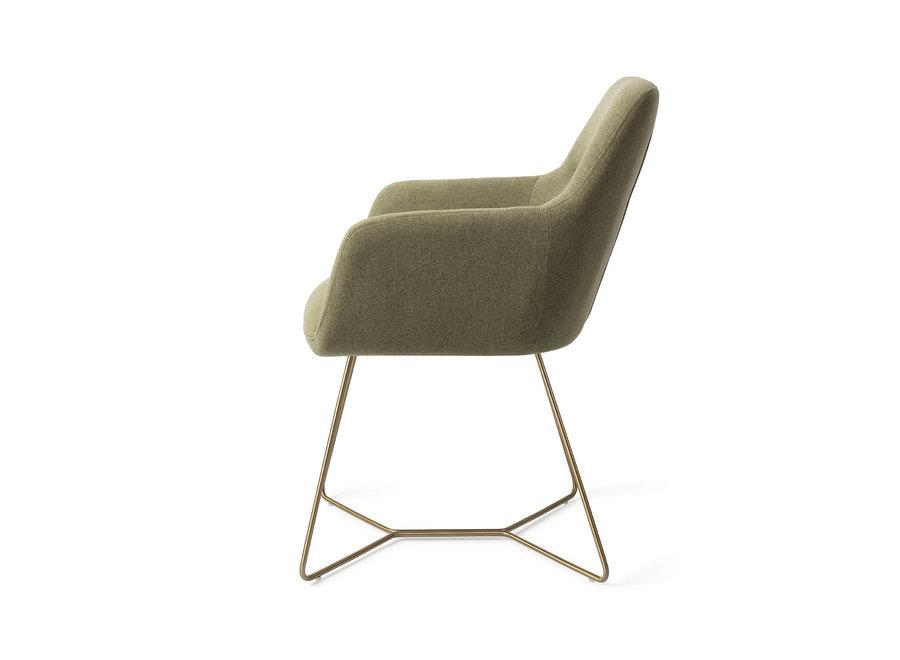 Chaise de salle à manger Kinko - Green Hunter, Beehive Gold