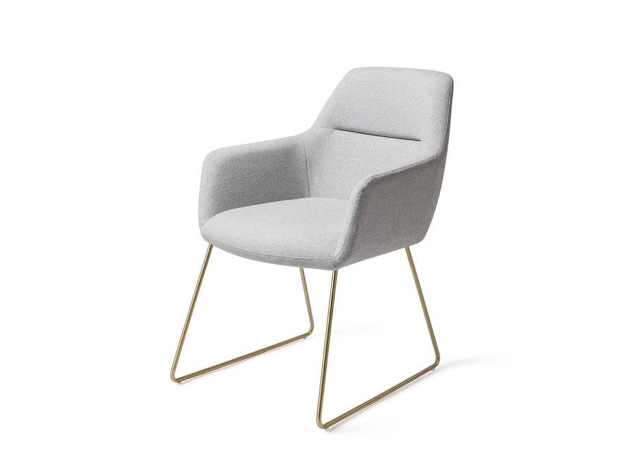 Chaise de salle à manger Kinko - Cloud, Slide Gold