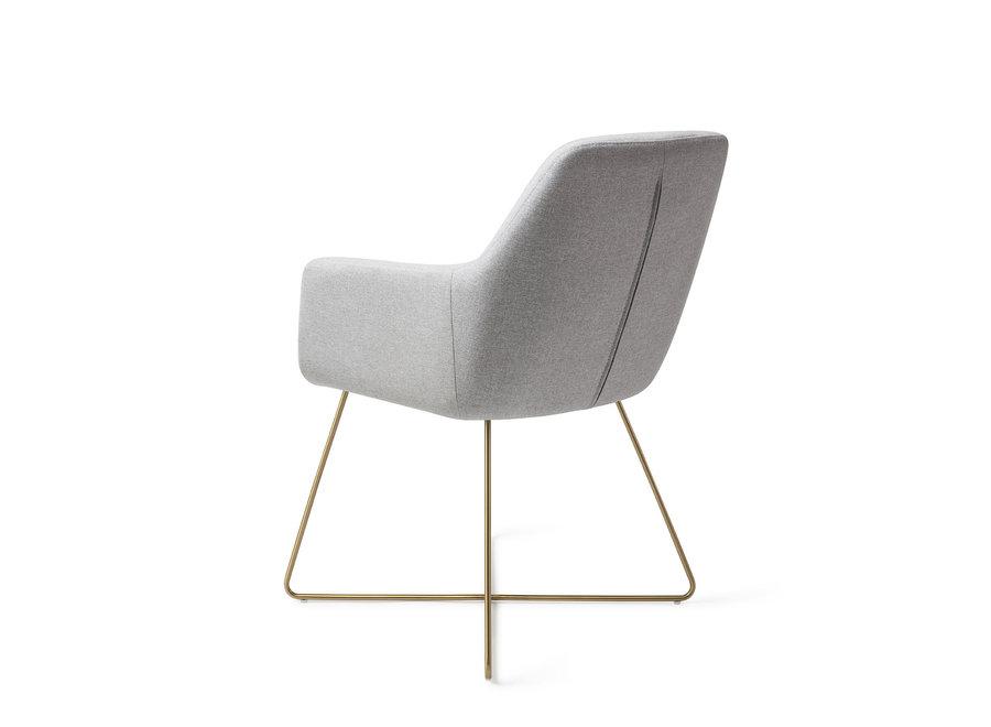 Chaise de salle à manger Kinko - Cloud, Cross Gold