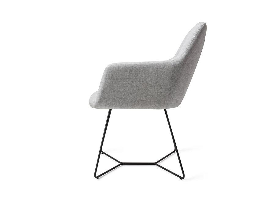 Chaise de salle à manger Kinko - Cloud, Beehive Black