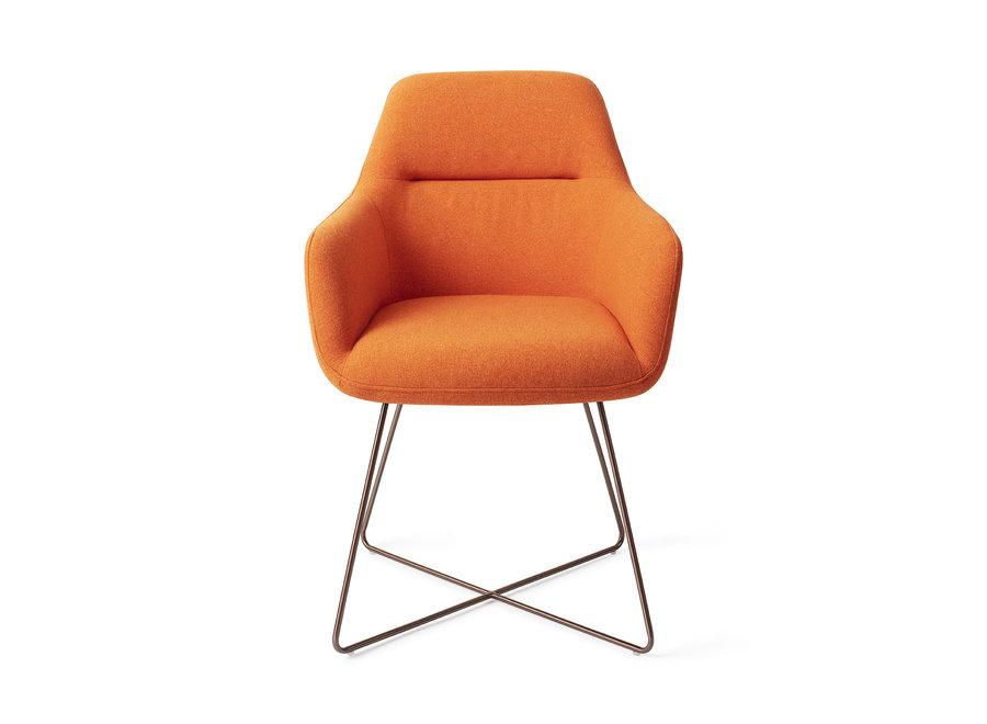 Chaise de salle à manger Kinko - Tangerine, Cross Rose Gold