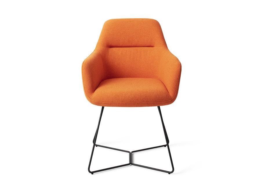 Chaise de salle à manger Kinko - Tangerine, Beehive Black
