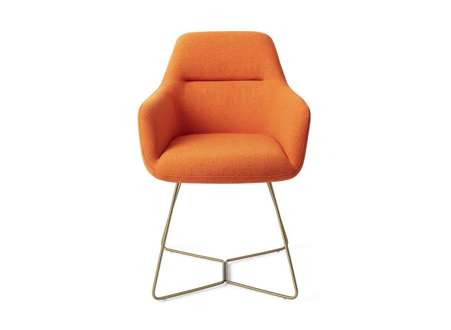 Chaise de salle à manger Kinko - Tangerine, Beehive Gold