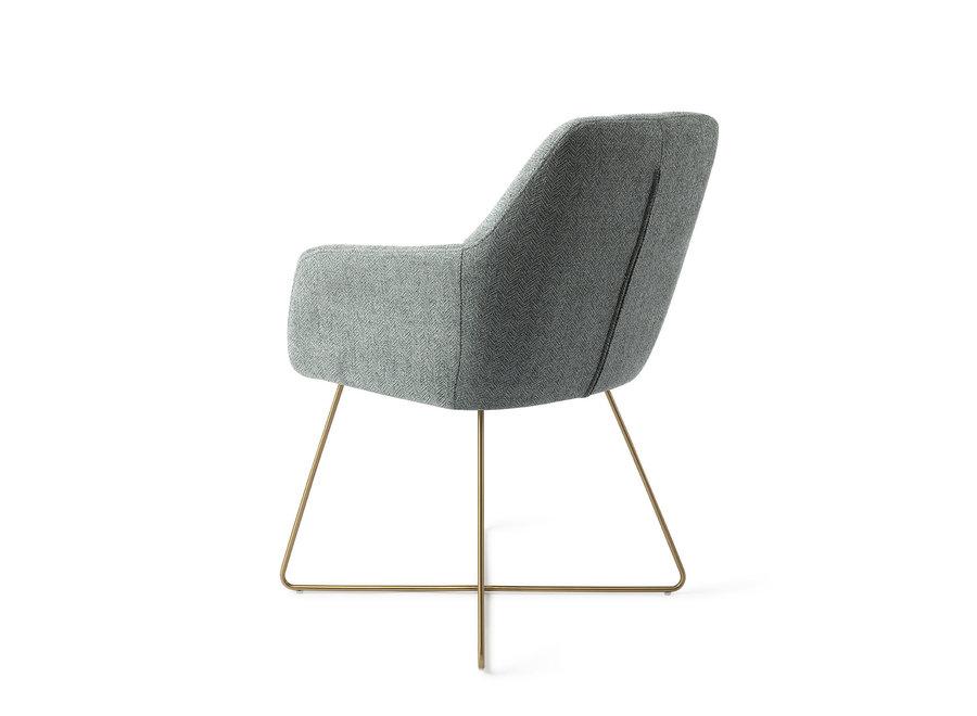 Chaise de salle à manger Noto - Real Teal, Cross Gold