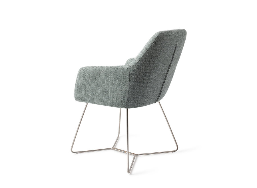 Chaise de salle à manger Noto - Real Teal, Beehive Steel