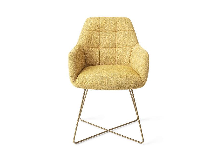 Chaise de salle à manger Noto - Bumble Bee, Cross Gold