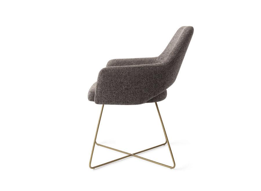 Chaise de salle à manger Yanai - Amazing Grey, Cross Gold