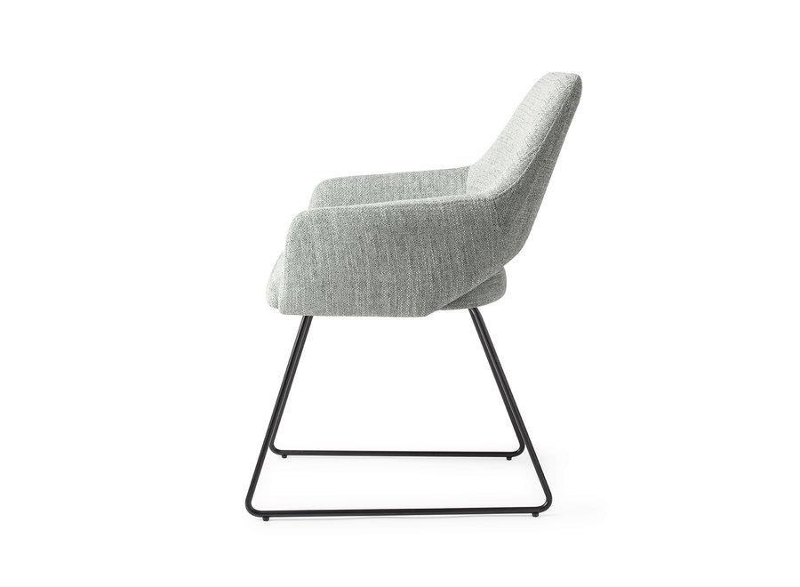 Chaise de salle à manger Yanai  - Soft Sage, Slide Black