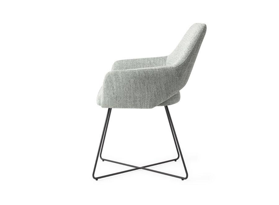 Chaise de salle à manger Yanai - Soft Sage, Cross Black