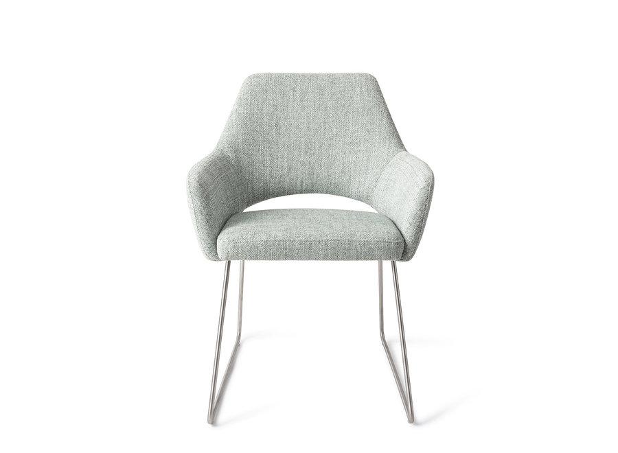 Chaise de salle à manger Yanai - Soft Sage, Slide Steel