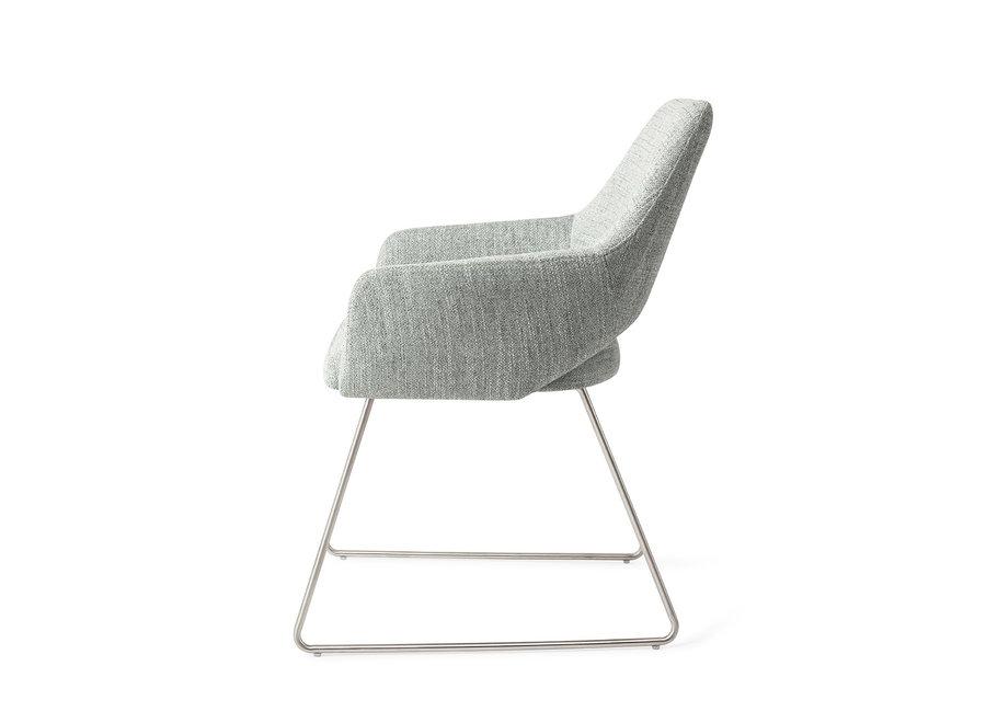 Yanai Eetkamerstoel - Soft Sage, Slide Steel