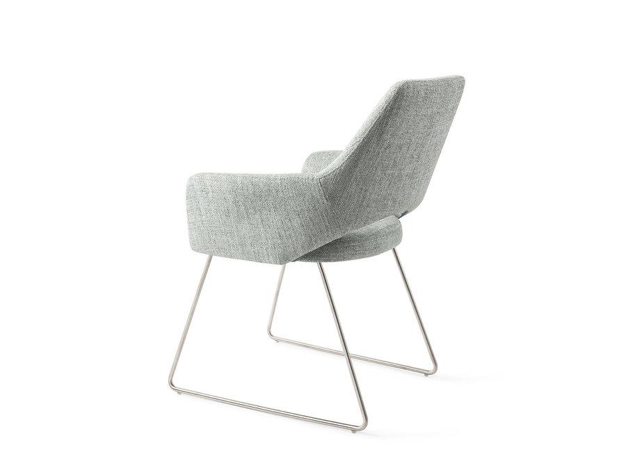 Chaise de salle à manger Yanai- Soft Sage, Slide Steel