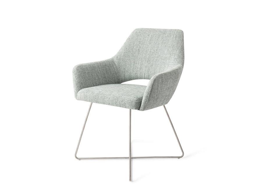 Yanai Eetkamerstoel - Soft Sage, Cross Steel