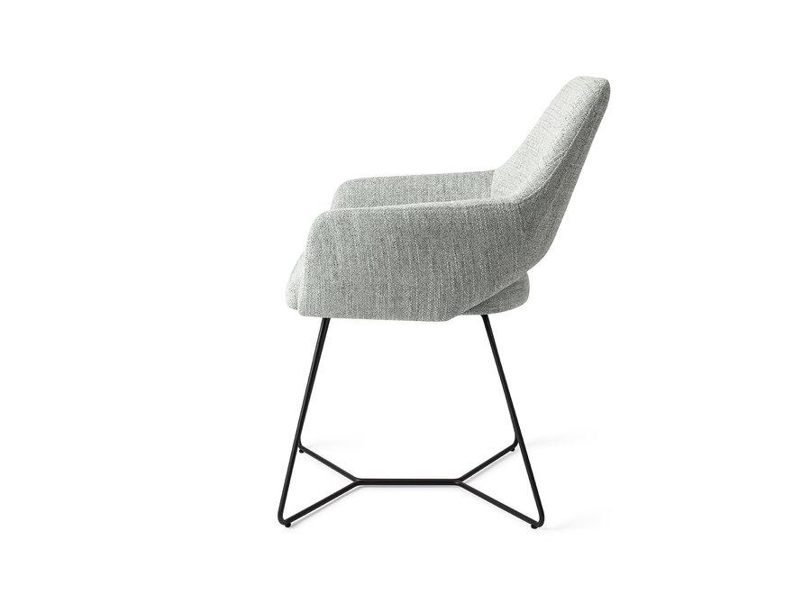 Chaise de salle à manger Yanai - Soft Sage, Beehive Black