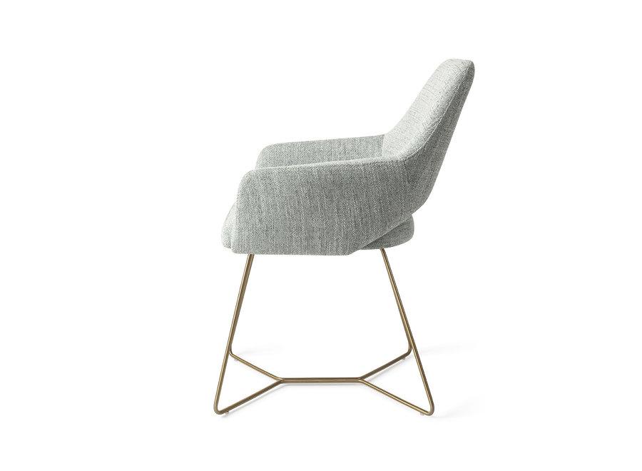 Chaise de salle à manger Yanai - Soft Sage, Beehive Gold