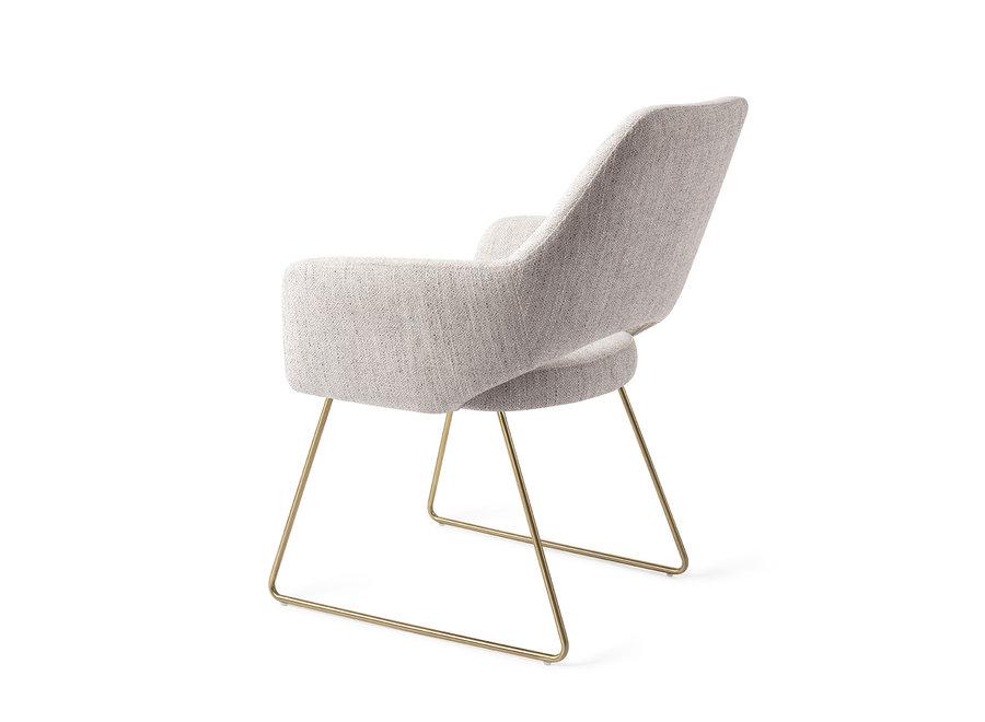 Chaise de salle à manger Yanai - Pigeon, Slide Gold