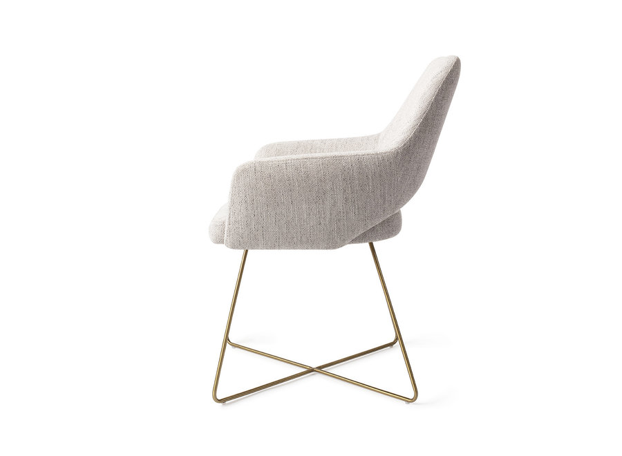 Chaise de salle à manger Yanai - Pigeon, Cross Gold