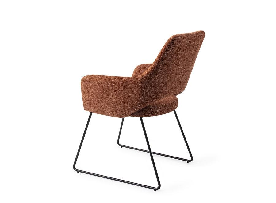 Chaise de salle à manger Yanai - Tuscan Terra, Slide Black