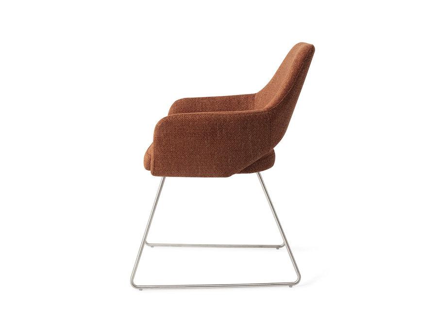 Chaise de salle à manger Yanai - Tuscan Terra, Slide Steel