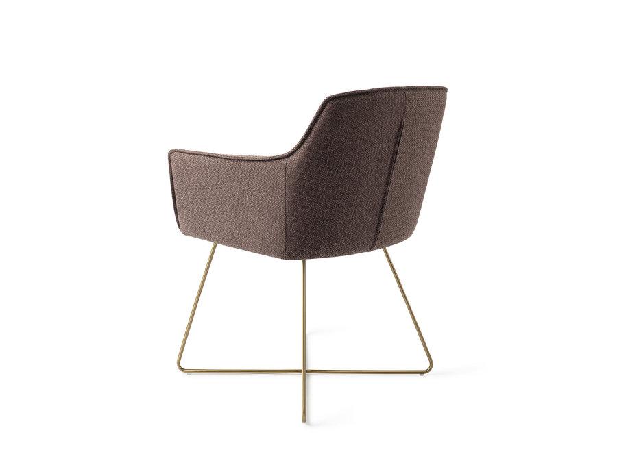 Chaise de salle à manger Hofu  - Potters Clay, Cross Gold