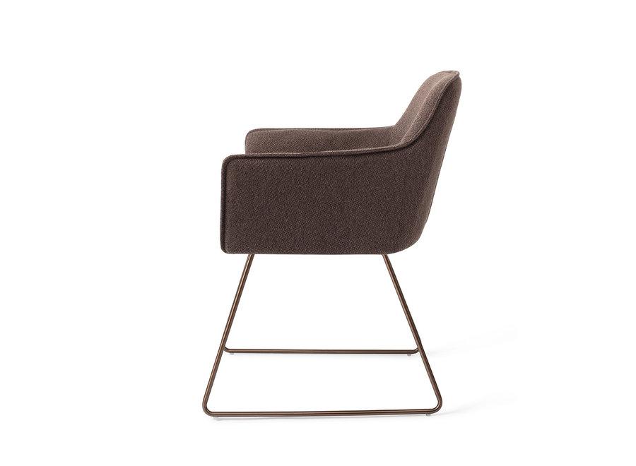 Chaise de salle à manger Hofu - Potters Clay, Slide Rose Gold
