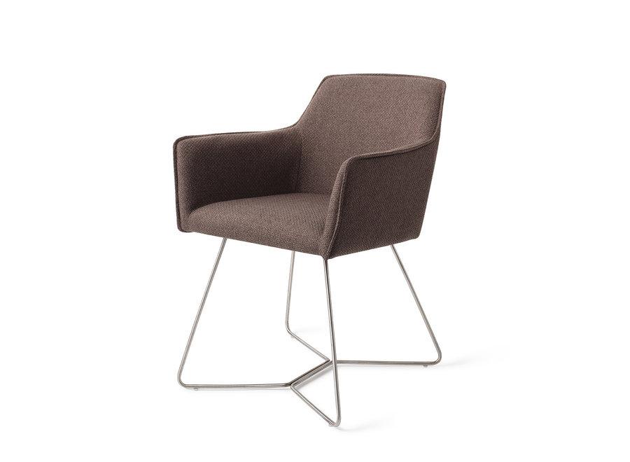 Chaise de salle à manger Hofu - Potters Clay, Beehive Steel