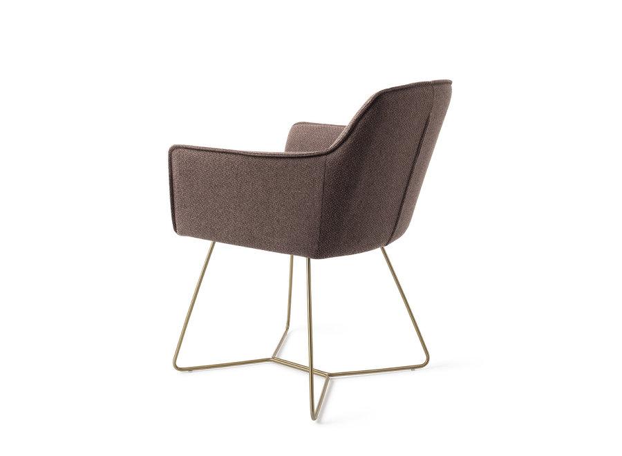 Chaise de salle à manger Hofu - Potters Clay, Beehive Gold