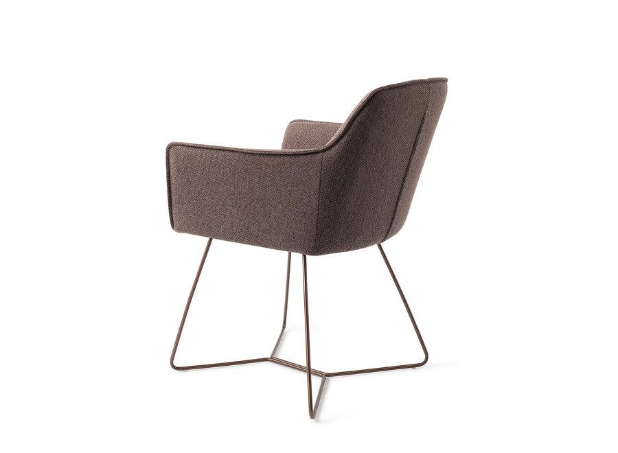 Chaise de salle à manger Hofu  - Potters Clay, Beehive Rose Gold